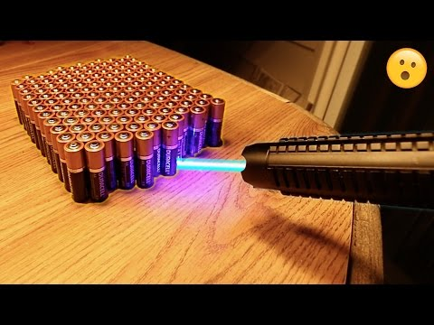Thumbnail: EXPERIMENT MOST POWERFUL LASER vs 100 BATTERIES!!