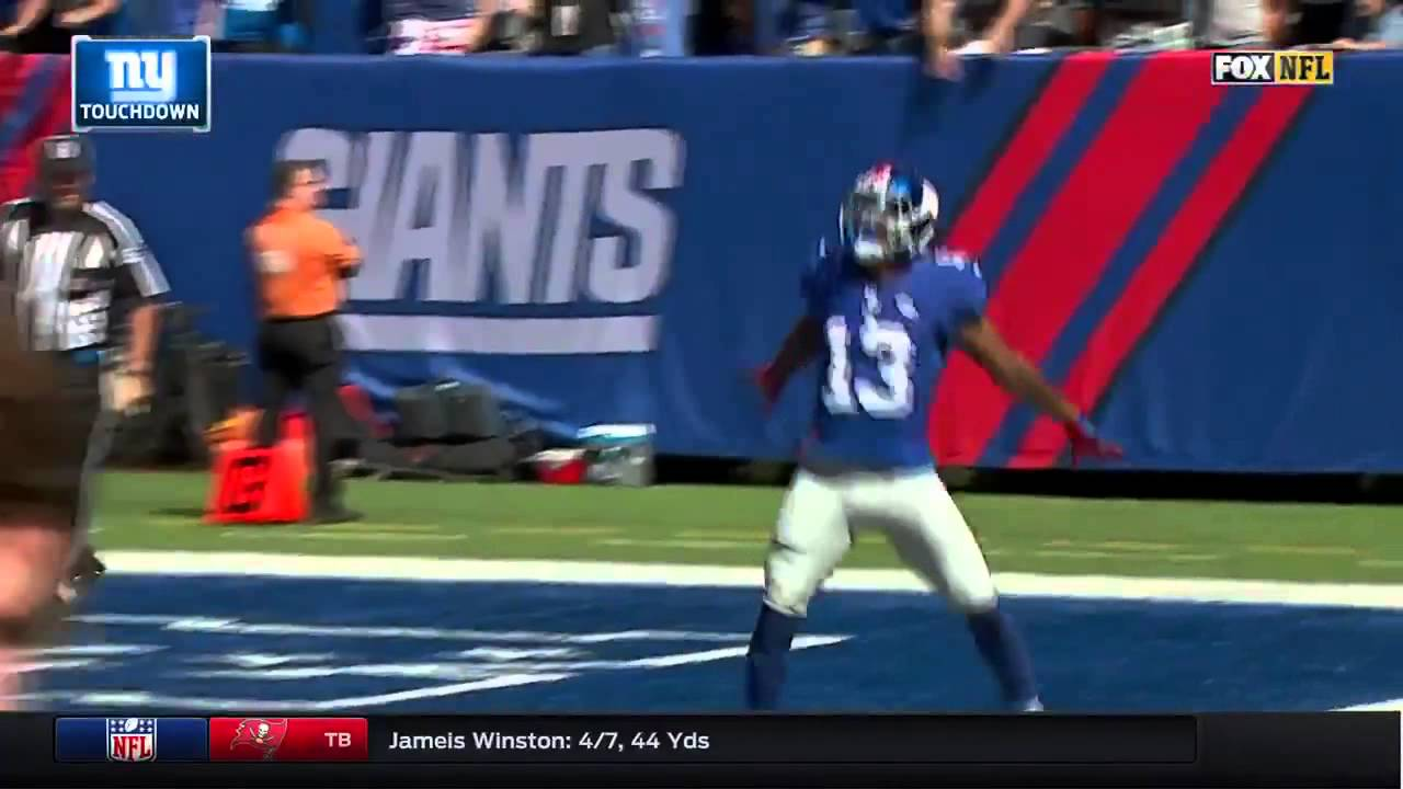 Odell Beckham Jr Celebrates  Yard Td With Cristiano Ronaldo Celebration