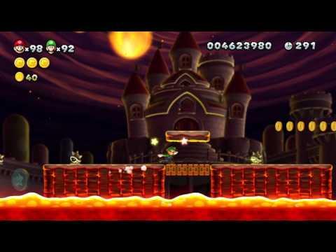 New Super Mario Bros. U Multiplayer Playthrough - Peach's Castle