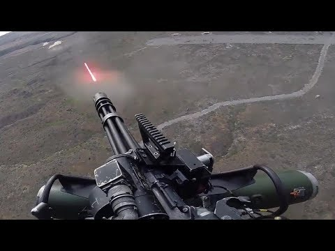 UH1Y Venom  US Marines Firing The Powerful GAU21 Machine Gun & M134 Minigun
