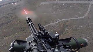 uS Marines Firing The Powerful GAU-21 Machine Gun & M134 Minigun - Close Air Support Trainings