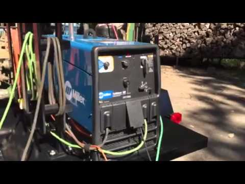 Miller Trailblazer 302 w/trailer - YouTube