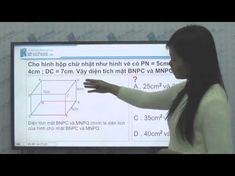 [Toán tiểu học][Toán 5, Toán lớp 5]- Hình hộp chữ nhật - Hình lập phương -- [Lika-K12school]