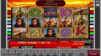 Biggest Win For Free Games - Attila Slot Machine By Novomatic