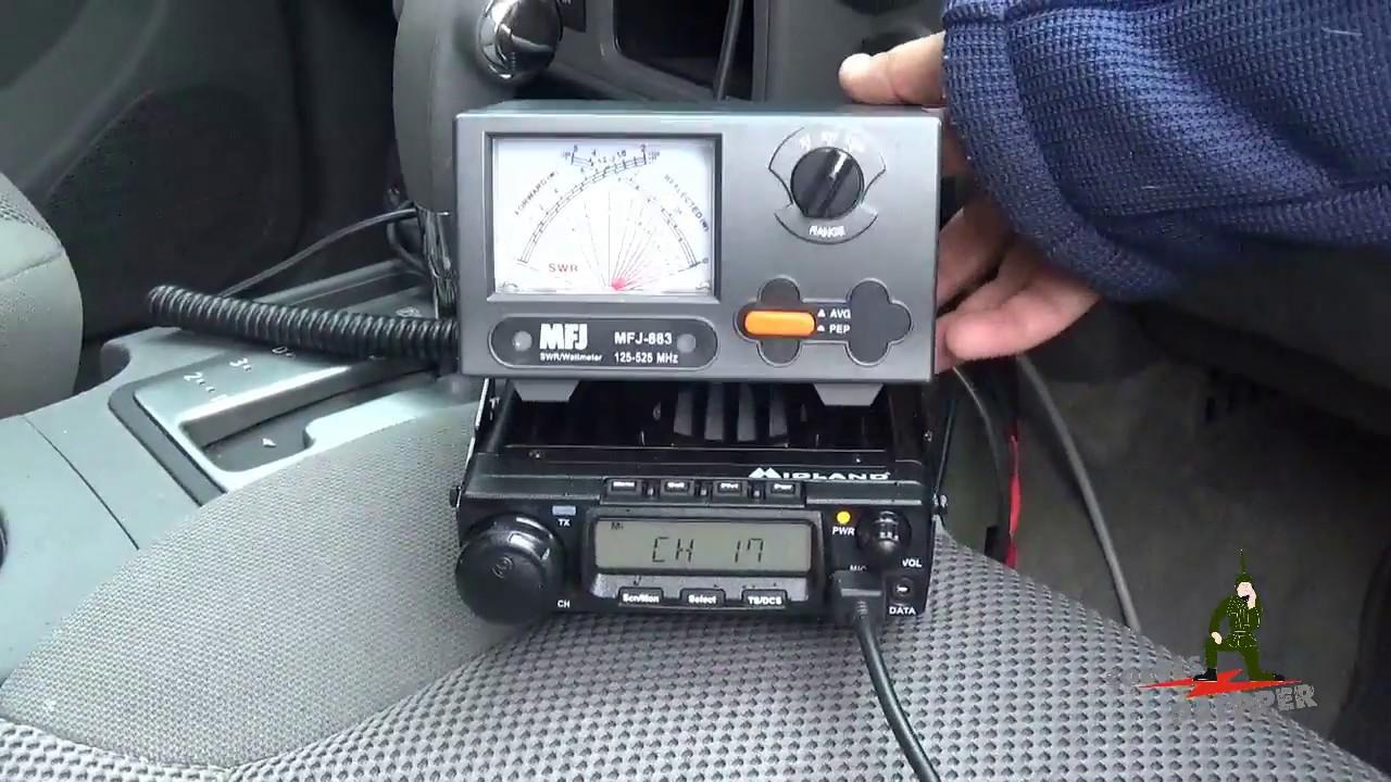 Midland MXT400 GMRS Radio Power and Antenna Test