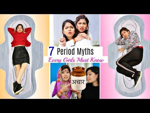 7 PERIOD MYTHS Every Girl Must Know - Period Myth Buster | #Fun #LifeHacks| ANAYSA