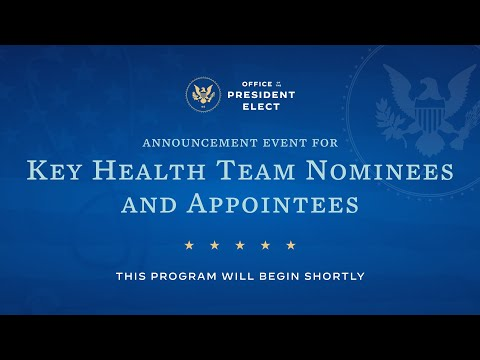 President-elect Biden Introduces Key Members of his Health Team