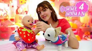 Vidéo en français pour enfants. Comme maman № 4. Jeux aux poupées. Poupon Emilie