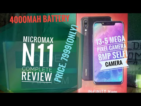 Micromax N11 Unboxing & review