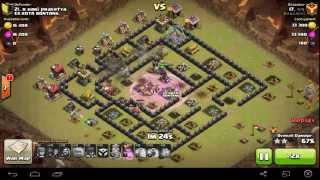 WAR BASE TH 8 TERKUAT - ANTI NAGA GOLEM DAN PEKKA 100% WORK