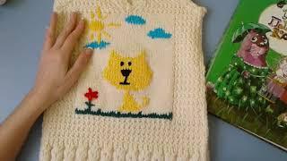 жилетка для ребенка на 5 лет.урок для начинающих