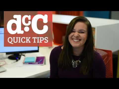 DCC - Quick Tips With Elsa