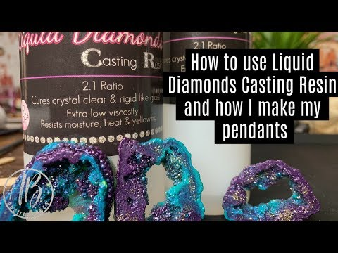 How to use liquid diamonds casting resin and how I make my pendants