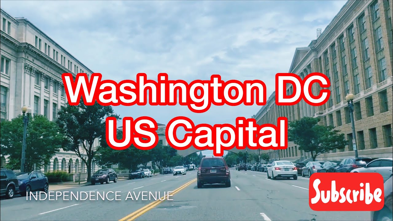 Driving Through Independence Avenue in Washington DC, US ( Lots of Famous Buildings)