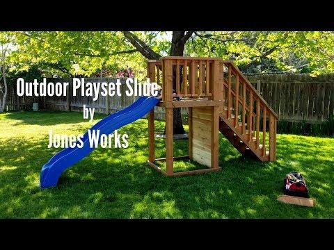 Outdoor Playset Slide | DIY Woodworking - 12
