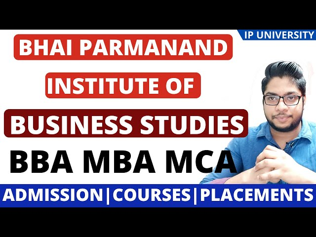Bhai Parmanand institute of business studies IP-university college details fee structure admission p