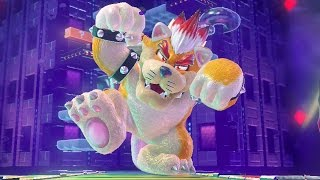 Super Mario 3D World: Verdadeiro Final com Bowser Gatinho - Wii U HD gameplay