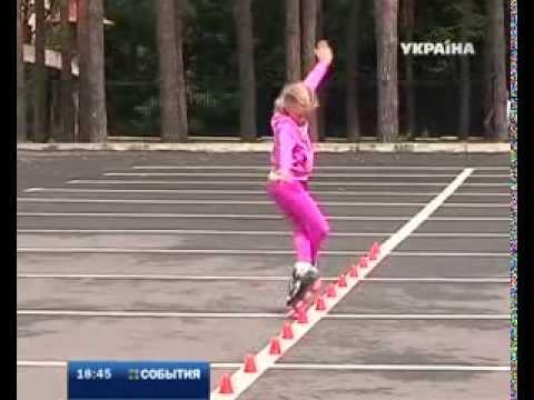 Софья Богданова, чемпионка России по роллер-спорту. В Харькове завоевала 3 золотых медали.