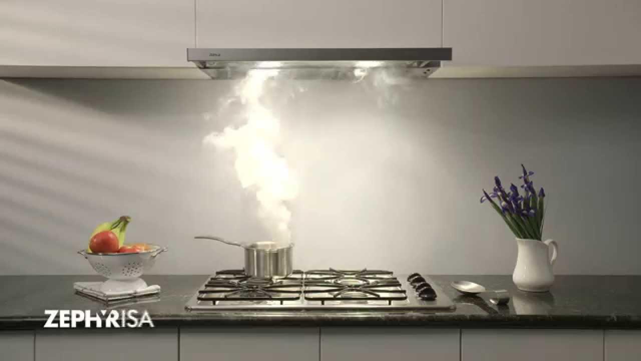 Zephyr Pisa Under-Cabinet Range Hood - YouTube