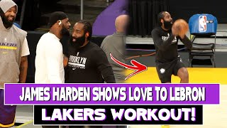 James Harden Shows love to LeBron James at Lakers Workout