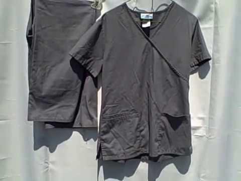 #337S SB Scrubs Scrub Set Top And Bottoms Gray Size XS