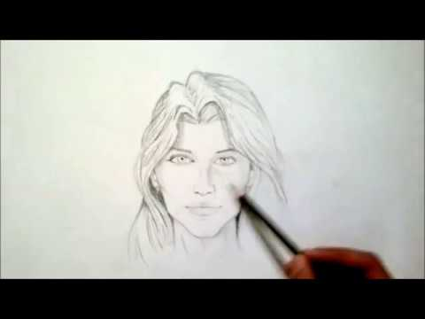 How to draw human face