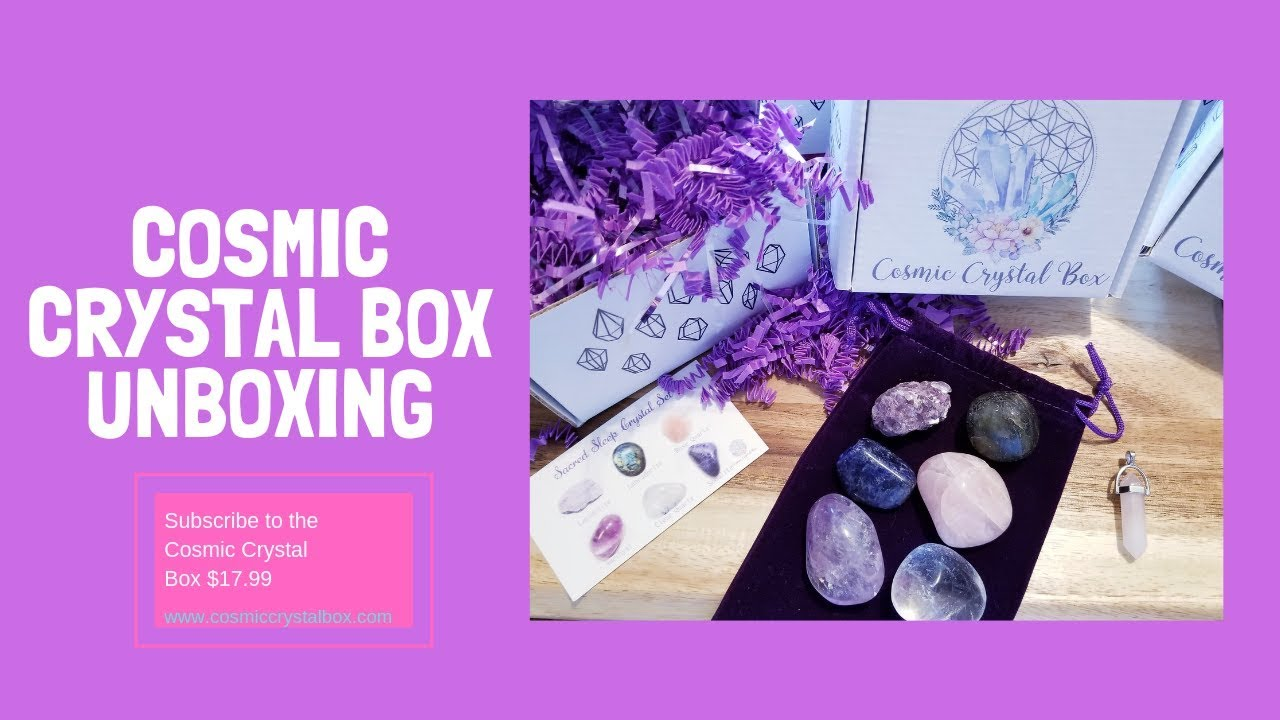 Cosmic Crystal Box Unboxing | Crystal Subscription Box | Crystals for Sleep