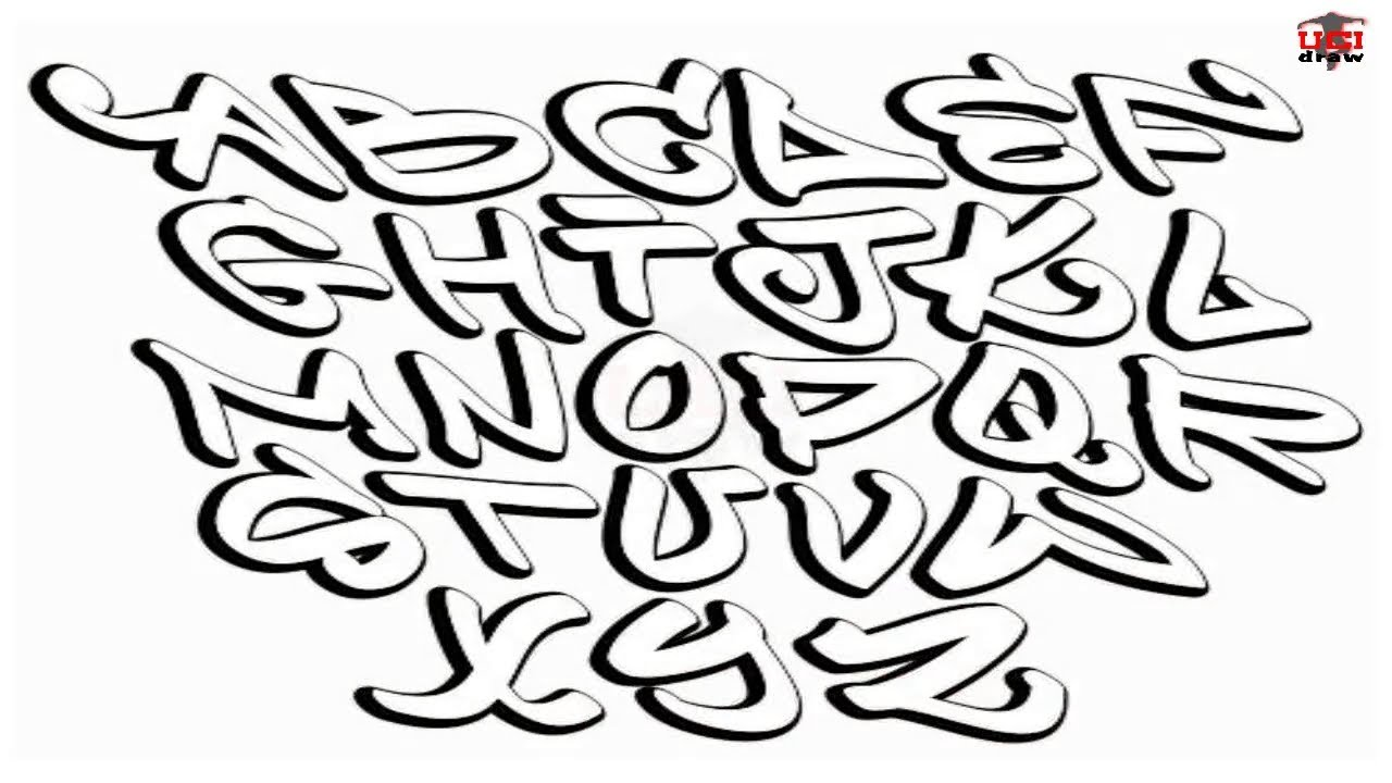 How to Draw Graffiti Letters Step by Step Easy for Beginners/Kids