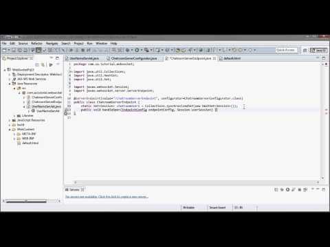 WebSocket Tutorial 13 - ServerEndpoint + Java Servlet + HttpSession + GlassFish 4 + Tomcat 8