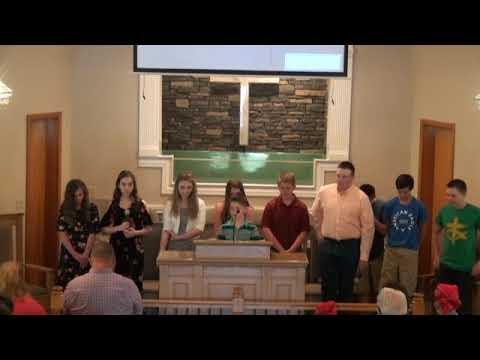 4/29/18 Youth Sunday at Greasy Creek Baptist Church
