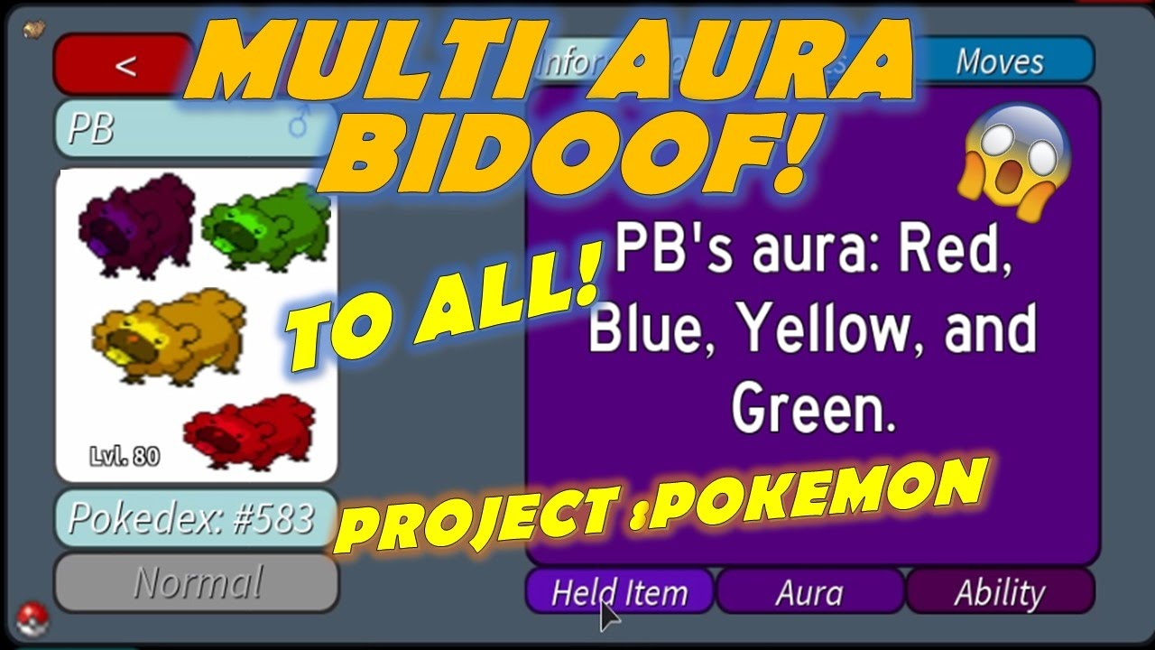 how to change aura in project pokemon