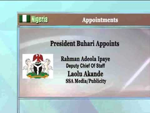 President Buhari Appoints Deputy Chief of Staff