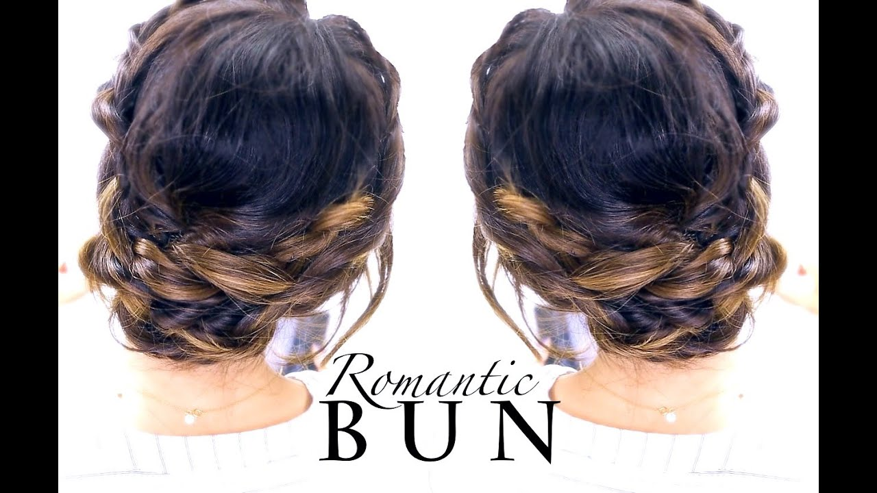 ☆ romantic braid bun hairstyle | summer updo hairstyles - youtube