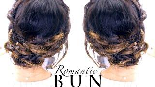 ★ Romantic BRAID BUN Hairstyle   Summer Updo Hairstyles