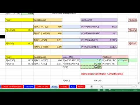 Excel 2013 Statistical Analysis #30: Bayes' Theorem to