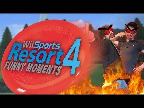 PAGS AND DINCHER LOSE IT - Wii Sports Resort Funny Moments (Part 4)