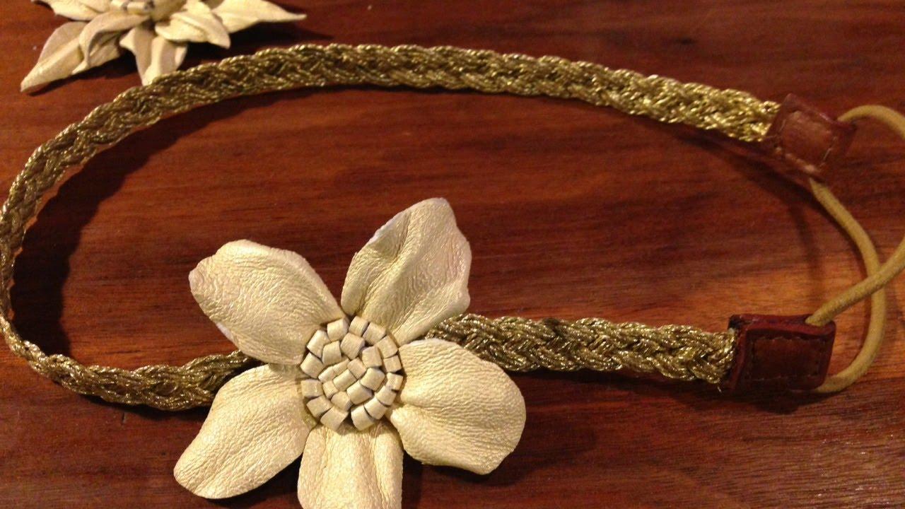 Make a pretty leather flower accessory diy crafts for Leather flowers for crafts