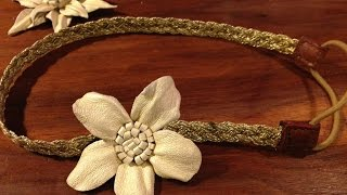 Make a Pretty Leather Flower Accessory - DIY Crafts - Guidecentral