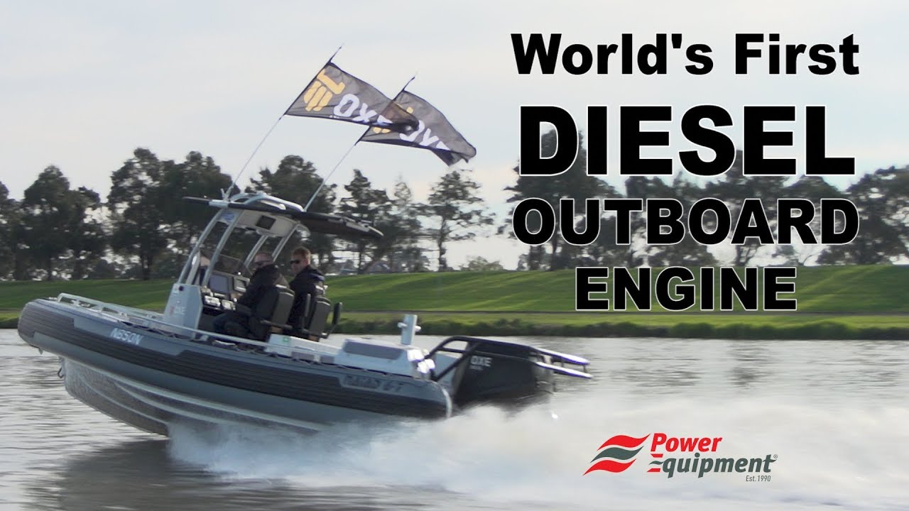 World's First Diesel Outboard Engine | Demonstration Video | OXE | D-Torque