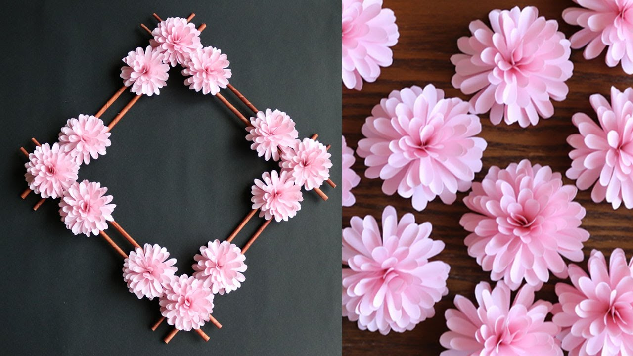 Paper Flower Wall Hanging Easy Wall Decoration Ideas