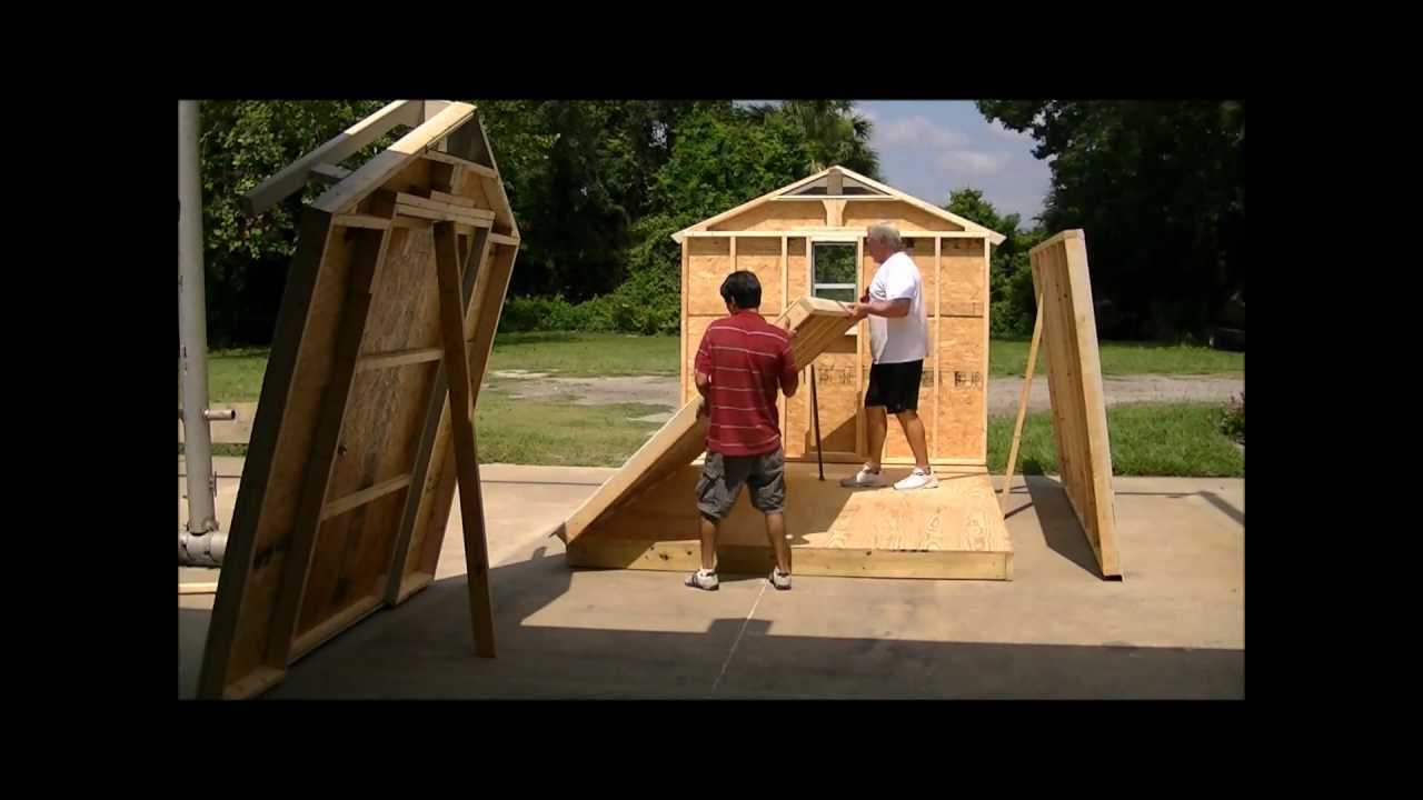 & Jacksonville Sheds built on site in just a few hours! - YouTube