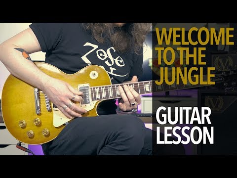 Welcome To The Jungle - Guns N' Roses (Full Guitar Lesson)
