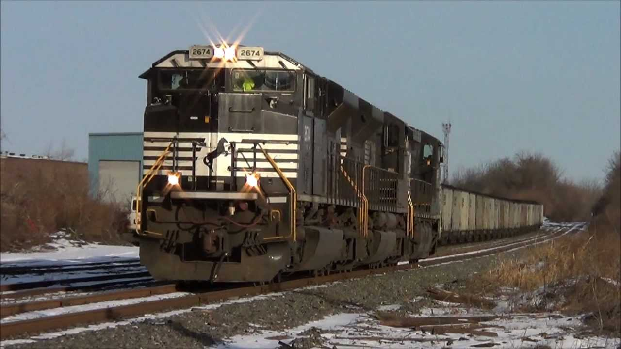 Rare Ns Coal Train On The Cement Secondary 01022013 Youtube