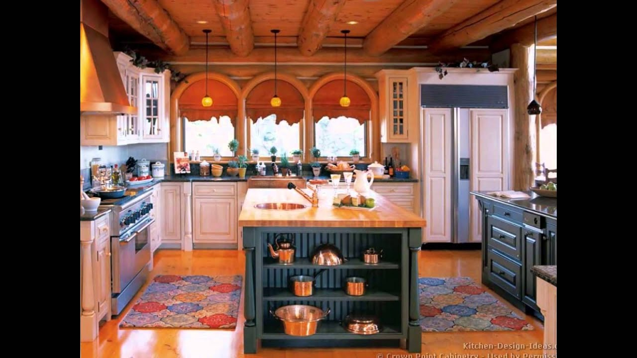 Small Log Cabin Kitchen Designs Interior Decorating House Photos Gallery    YouTube