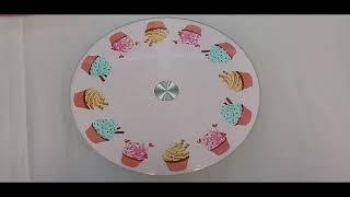 Стеклянная вращающаяся подставка для торта, мафинов.