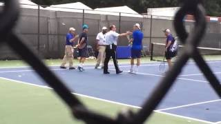 Bernard Tomic and Victor Troicki in Heated Exchange With Washington Police Officer
