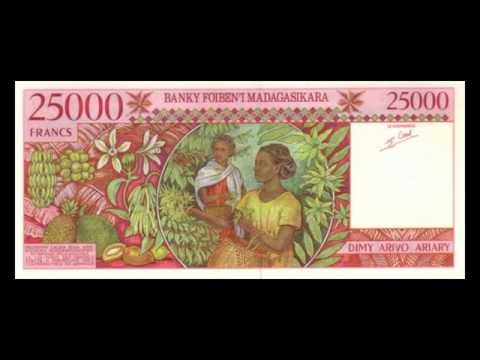 All Malagasy Ariary Banknotes - Banque Centrale de Madagascar - 1988 to 1998 in HD