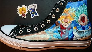 How to Paint Custom Dragonball Shoes | Trunks And Vegeta