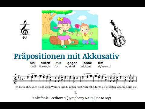 Learn german a1 a2 prepositions with accusative with a for Prapositionen mit akkusativ