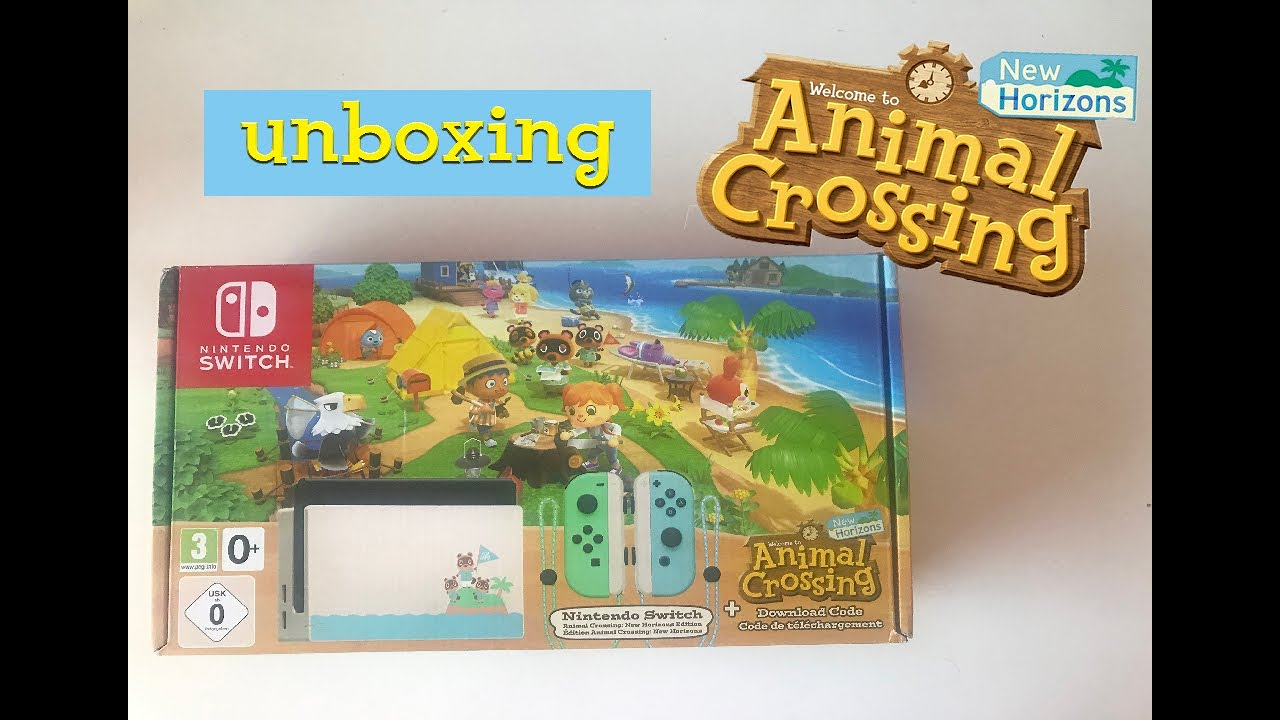 Nintendo Switch Animal Crossing New Horizons Edition Unboxing In